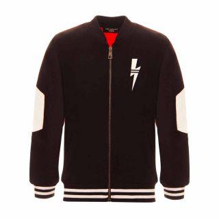 Boys Color Block Zipped Jacket
