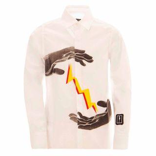Boys Graphic Print Cotton Shirt