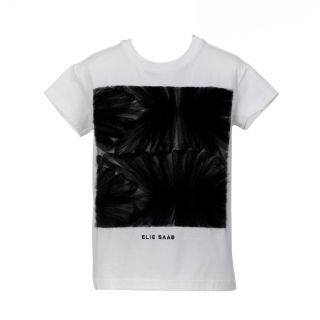 Black Net Ruching With Logo T-shirt