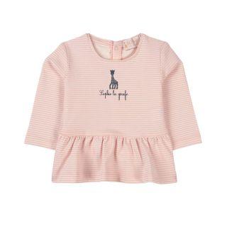 Striped Light Pink Baby T-shirt