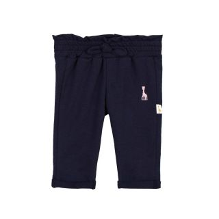 Baby Navy Blue Sweatpants With Embroidered Logo
