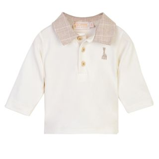 Polo Full Sleeve T-shirt With Checked Collar