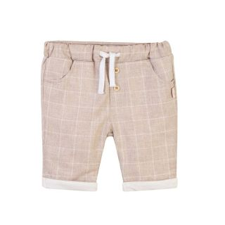 Checked Brown Baby Short