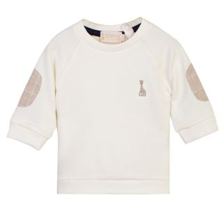 Baby Sweatshirt with Elbow Patch