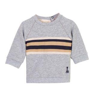 Grey Striped Baby Sweatshirt
