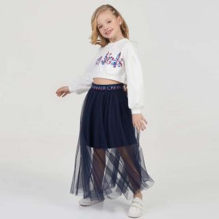 Mesh Long Length Skirt