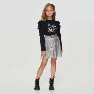 Shiny Silver Skirt