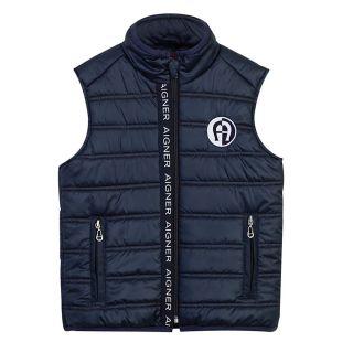 Boys Logo Sleeveless Jacket