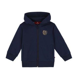 Baby Boys Navy Logo Zip Up Hoodie