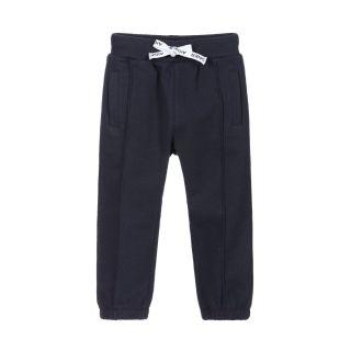 Baby Boy Navy Blue Cotton Joggers