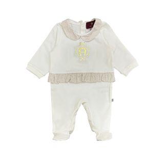 Pima White Cotton Babygrow