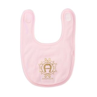 Pink Pima Cotton Logo Bib