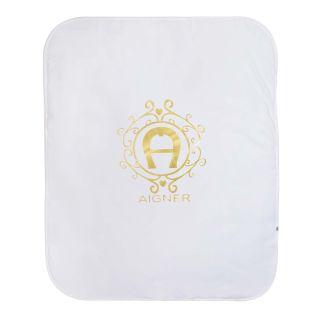 Ivory & Gold Logo Baby Blanket