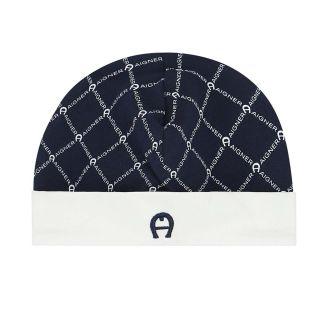 Blue & White Pima Cotton Baby Cap