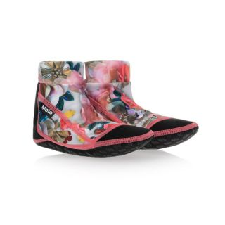 Black & Floral Pink Aqua Shoes