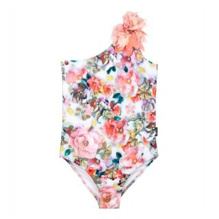 Ivory Floral Swimsuit (UPF50+)