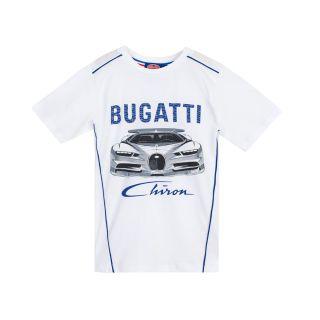 Bugatti Boys Chiron Print T-Shirt in White