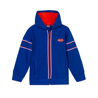 Boys Striped Blue Hooded Jacket
