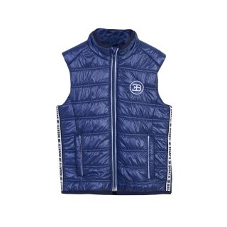 Bugatti Blue Zipped Boys Sleeveless Jacket