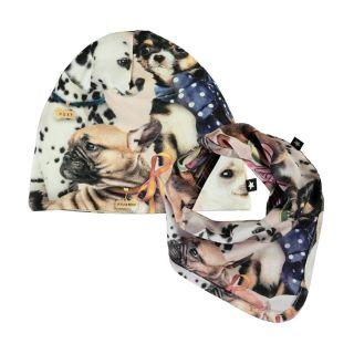 Noon Bib and Hat Set - Puppy Love