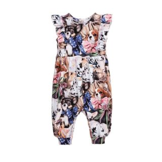 Girls Organic Cotton Jumpsuit