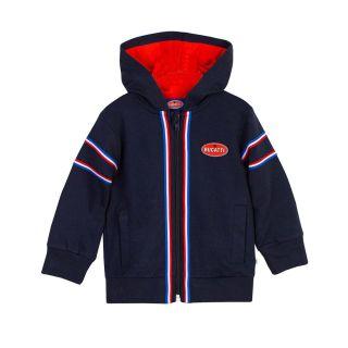 Baby Boys Navy Zipped Jacket With Hood