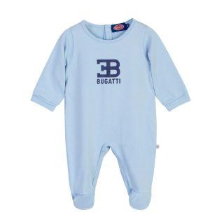 Baby Boys Bugatti Embroidered Blue Romper