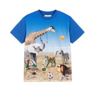Blue Football Animals T-Shirt