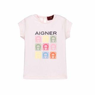Baby Girl Pink Logo T-Shirt