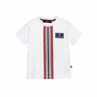 Baby Boys White & Red Logo T-Shirt