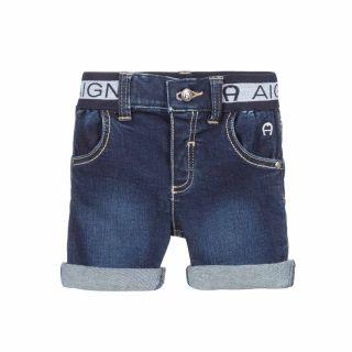 Boys Blue Denim Baby Shorts