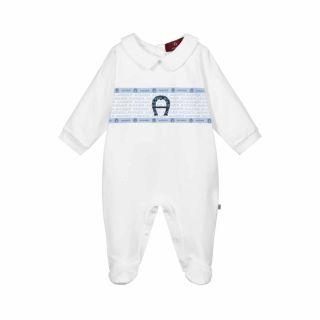 White Pima Cotton Babysuit
