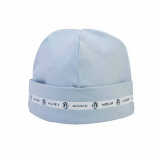 Pastel Blue Pima Cotton Baby Cap
