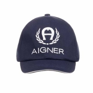 Boys Navy Blue Logo Cap
