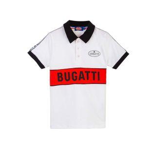 Bugatti Boys White Cotton Polo Shirt