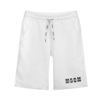 White Logo Shorts