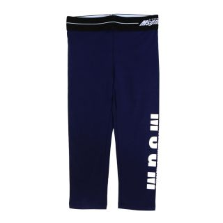 Blue Cotton Logo Leggings