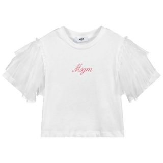 White Tulle Logo T-Shirt