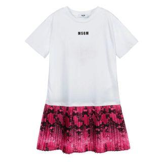 White & Pink Cotton Dress