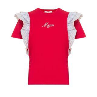Teen Pink Ruffle Logo T-Shirt