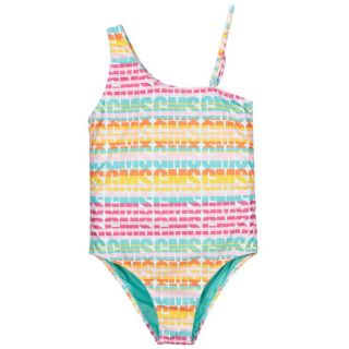 Teen Pink & Blue Logo Swimsuit