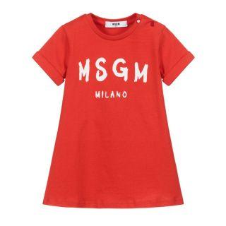 Baby Girls Red Logo Dress
