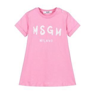 Baby Girls Pink Logo Dress