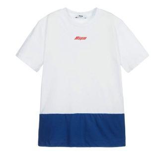 Teen White & Blue Logo T-Shirt