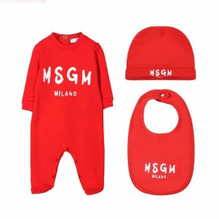 Red Unisex Babygrow Set