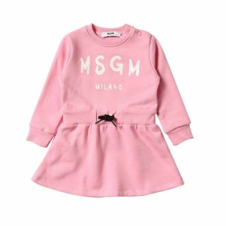 Baby Girl Pink Dress With Logo
