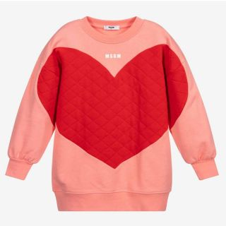Girls Coral Pink Sweatshirt Dress