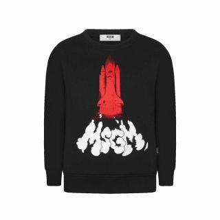 Unisex MSGM Kids Graphic Logo Printed Sweatshirt