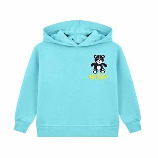 Turquoise Bear Print Unisex Hoodie