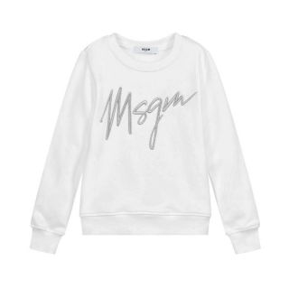White & Silver Logo Sweatshirt